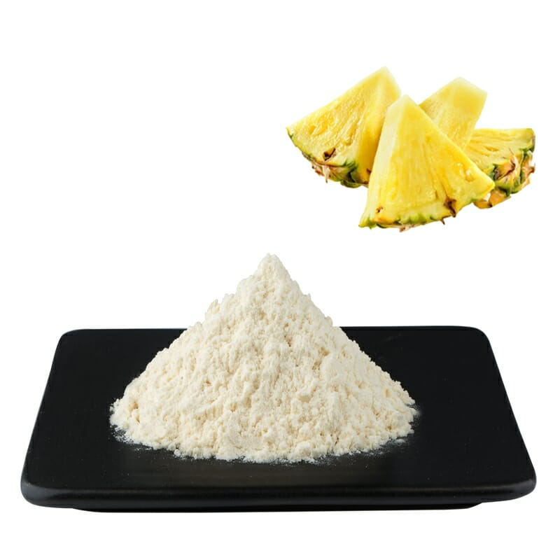 Pure Natural Bromelain Enzyme Powder Enzymatic Activity 1200000u/g 2500GDU